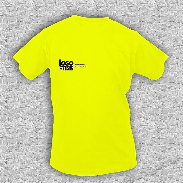 Funkční tričko s potiskem na přání - neon žlutá - ukázka 3821636782