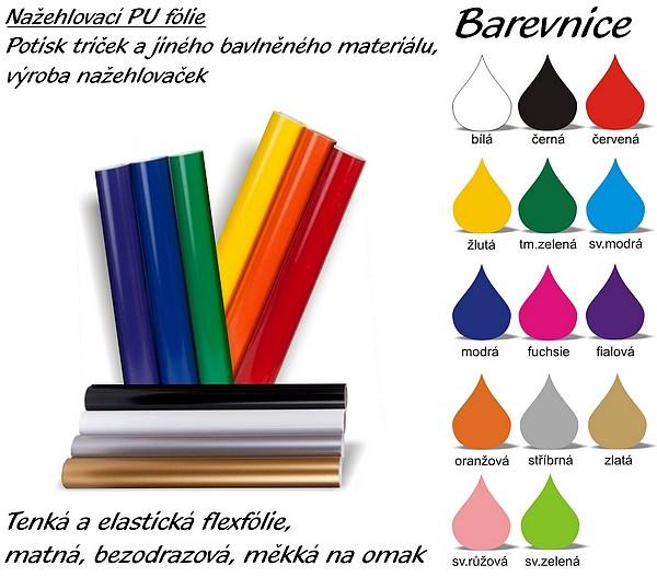 barevnice fólií k potisku